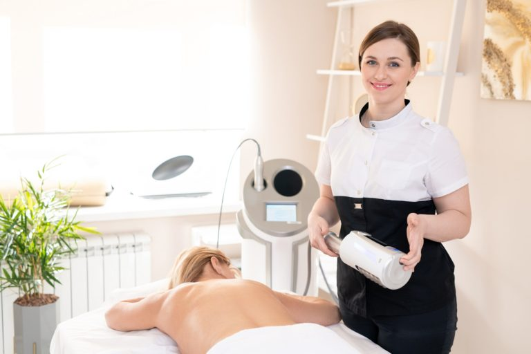 Masseur with anti-cellulite device